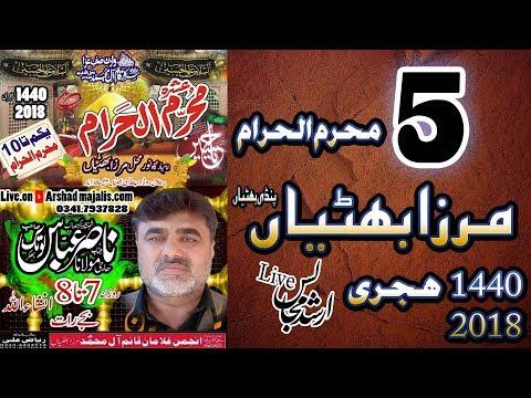 Live majlis ashra muharram 2018.19    zakir nasir abbas notak 5 muharam mirza bhattian thumbnail