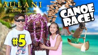 CANOE RACE - EVAN DESTROYS OUR BOAT!!! Disney's Aulani, Pearl Harbor, Jenga, Scavenger Hunt & Moana!