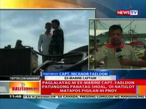 BT: Paglalayag ni Ex-Marine Capt. Faeldon patungong Panatag Shoal, di natuloy nang pigilan ni PNoy