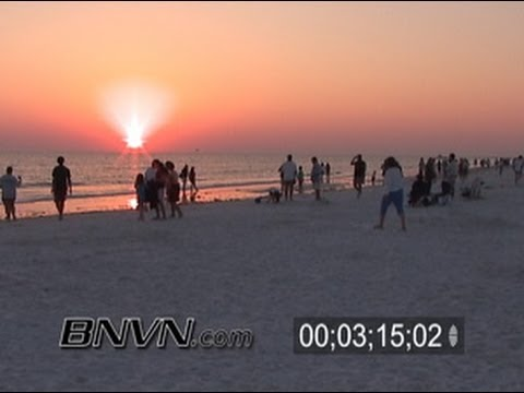 3/5/2006 Siesta Key Beach Drum Circle Footage Sunset B-Roll