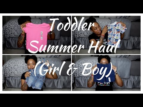 TODDLER SUMMER CLOTHING HAUL (WALMART, OLD NAVY, CARTERS)