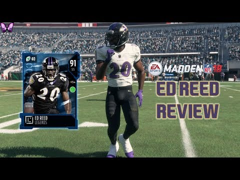 91 OVR. ED REED REVIEW   Madden 18 Player Reviews☆