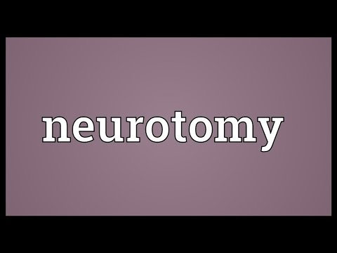 Header of neurotomy