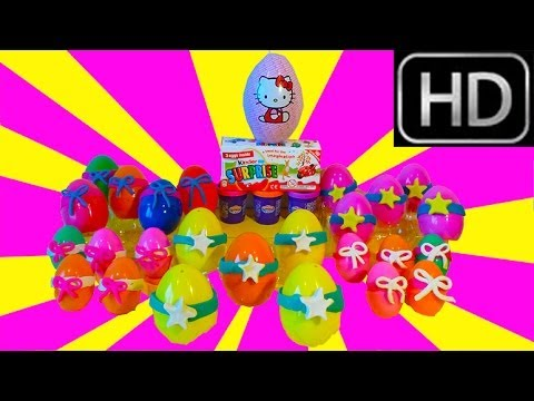 Surprise eggs COMPILATION 20 minutes Kinder Play-Doh Hello Kitty Peppa Pig Disney Princess HD