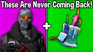7 RARE COSMETICS NEVER RETURNING TO FORTNITE! (these skins are never coming back)