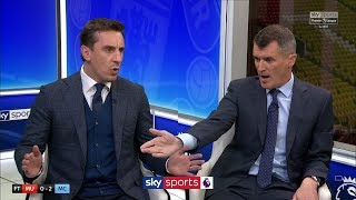 Roy Keane and Gary Neville have HEATED debate over Man United players39 work-ethic and attitude!