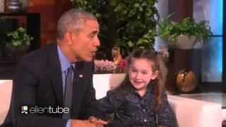 Ellen Show Feb 12 2016 OBAMA Meets MACEY 5-Year Old PRESIDENTIAL EXPERT TODAY {VIDEO} HD 720p  !!_