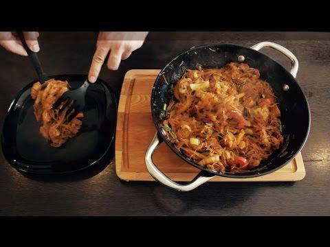 Самый вкусный рецепт вок лапши с мясом! WOK и фунчоза c мясом и овощами