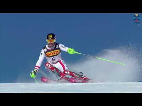 Men's Slalom Race 1 2017 FIS Alpine World Ski Championships, St. Moritz