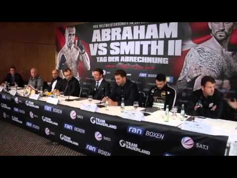 ARTHUR ABRAHAM v PAUL SMITH 2 - FINAL PRESS CONFERENCE IN BERLIN / WBO SUPER-MIDDLEWEIGHT TITLE