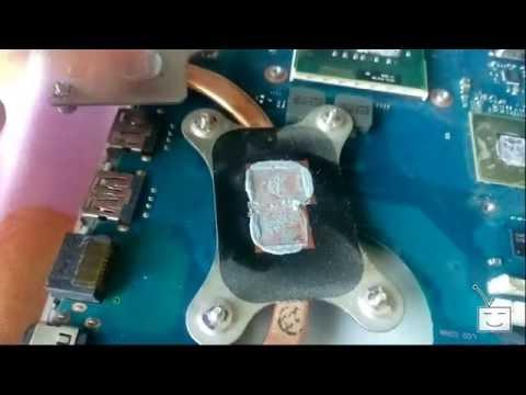 Устраняем перегрев ноутбука Samsung RV511
