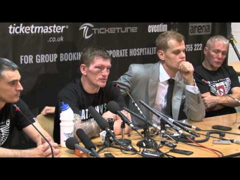 RICKY HATTON CONFIRMS HIS RETIREMENT AT POST-FIGHT PRESS CONFERENCE / HATTON v SENCHENKO
