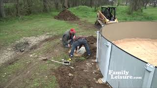 Above Ground Pool Installation | What To Expect | Family Leisure