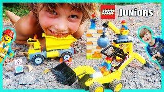 Lego Jr. Construction Trucks Skit