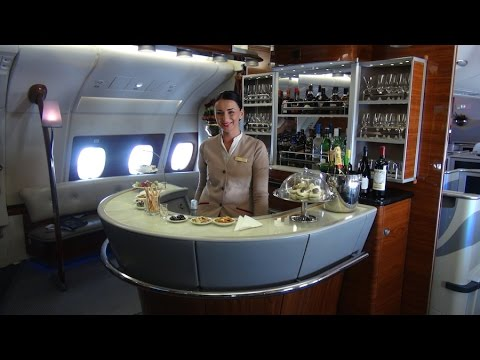 Emirates A380 First Class: Showers and Suites - YouTube Emirates First Class A380 Suite
