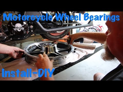 Put Sealed Wheel Bearings in Motorcycle Wheel in Your Garage-DIY
