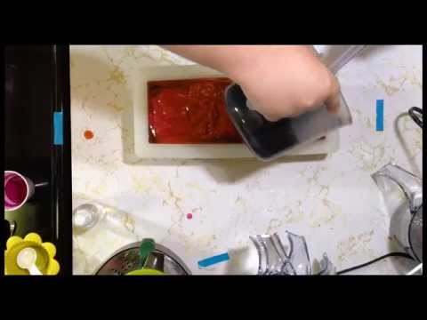 Making Black Cherry Handmade Cold Process Soap - June 2013 - Dirty Pirate Soap