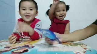 Bé ăn bánh socola l Học ghép hình thông minh với bé Minh Thắng【TQ Channel】