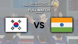 KOR vs. IND - Full Match | AVC Men's Tokyo Volleyball Qualification 2020