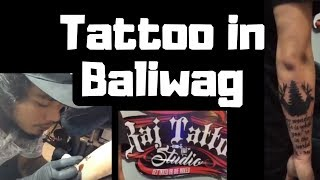 Having my tattoo at RAJ Tattoo Studio Baliwag