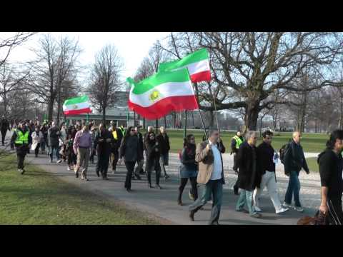 15 March 2011: Dutch-Persians Demo in The Hague against Islamic Regime in Tehran