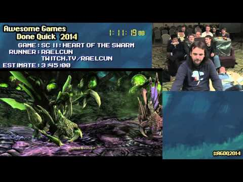 Starcraft II: Heart of The Swarm Brutal Difficulty :: Speed Run in 3:20:36 by Raelcun #AGDQ 2014