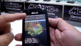 Hard reset celular chino marca Blu Neo JR, Formatear, Quitar Patrón