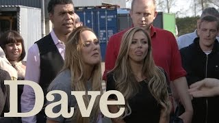 Geordie Shore Charlotte and Holly vs Johnny Vegas | Celebrity Storage Hunters S1E1 | Dave