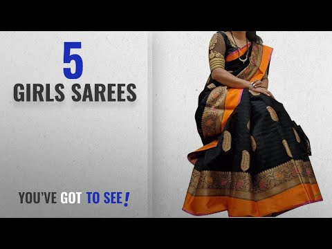 10 Best Girls Sarees [2018 Best Sellers]: Saree(Navabi Export Sarees For Women Party Wear Half