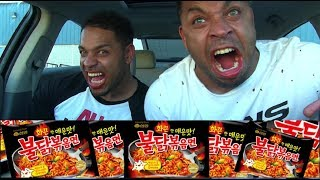 EXTREME SPICY RAMEN NOODLE AND TAKIS EATING CHALLENGE @HODGETWINS