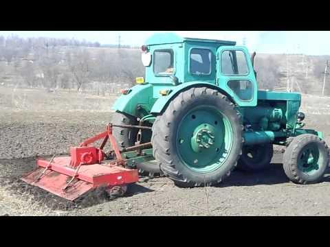 Пуск двигателя трактора МТЗ-82(80) и проверка его работы
