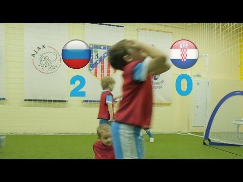 Футбол для дошкольников. Тренировка по футболу. Россия - Хорватия. Дети. Footyball.