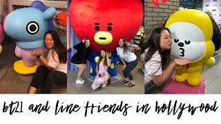 BT21 IN HOLLYWOOD @ THE NEW LINE FRIENDS STORE and a bonus food adventure + mini haul╰(✧∇✧╰)