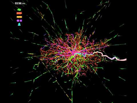 Public Transport flows, London