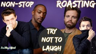 Anthony Mackie Continuously Roasting Tom Holland - Sebastian Stan Included