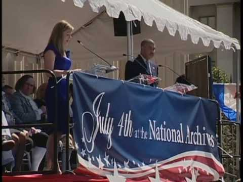 July 4th 2010 at The National Archives complete ceremony