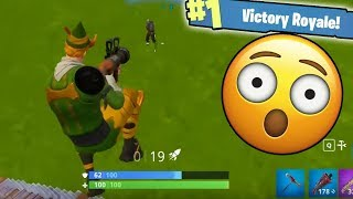 INSANE SOLO REACTIONS WITH THE RPG!!! (Fortnite Battle Royale)