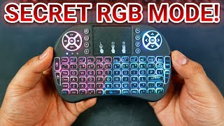 i8 Wireless Mini Keyboard & Touchpad With TOP SECRET RGB CYCLING Mode!