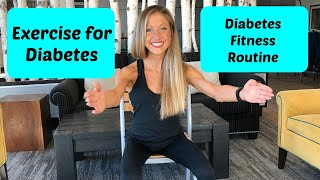 Exercise for diabetes: Seated cardio fitness video routine for diabetes (Chair Workout)