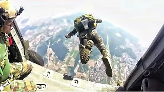 Navy Seals Marsoc Free Fall Jump From Helicopter