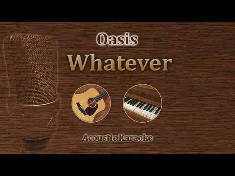 Whatever - Oasis (Acoustic Karaoke)