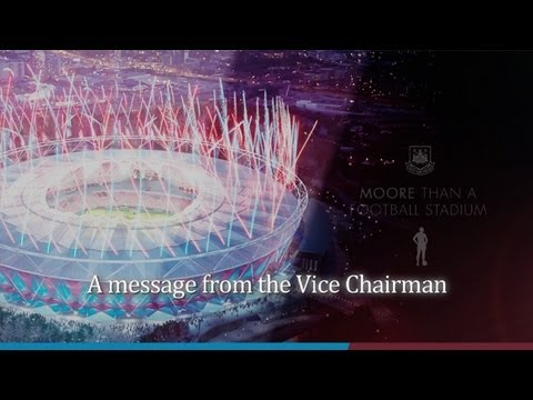 An Olympic Stadium presentation from the Vice Chairman