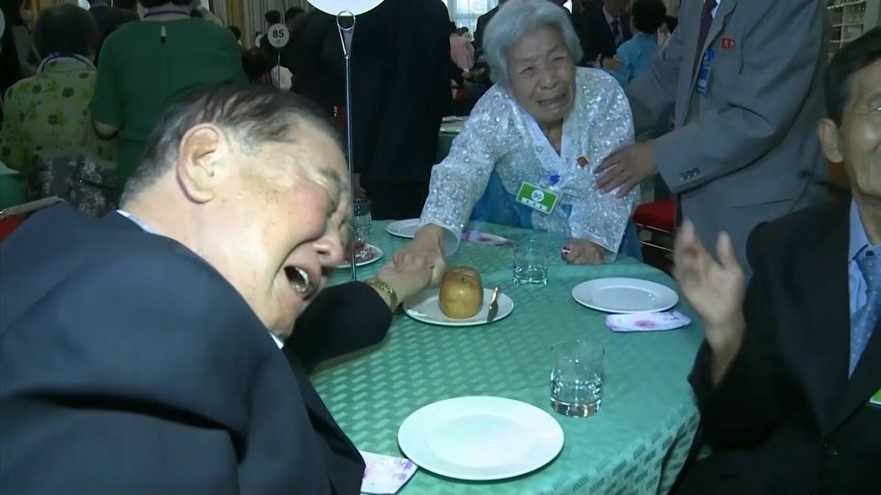 Emotional scenes as Korean families reunite after decades apart