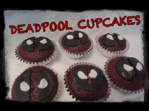 HOW TO MAKE DIY Deadpool Cupcakes - Adventures of James & Jase