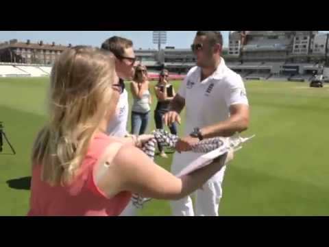 Ian Bell & Tim Bresnan - Stowford Press trick shot cricket contest