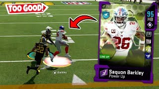 SAQUON BARKLEY CANT BE STOPPED! CRAZY RUNS! MADDEN 20 ULTIMATE TEAM