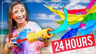GiANT PAiNT SLiDE! | We Tried 10 FUN Summer Activities in 24 HOURS!