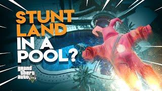 Can FORTNITE skins STUNT LAND in a pool? | GTA 5 Fortnite