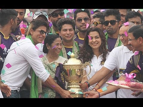 Bengal Felicitates KKR, SRK, Juhi At Eden The worlds of Bollywood, cricket and politics came together in a lavish ceremony as the winners of the 2014 Indian ...