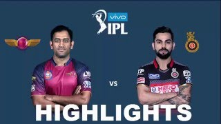 IPL 2016- Match 16th RPS Vs RCB - Highlights